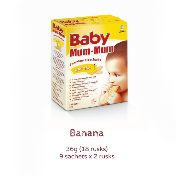 Baby Mum Mum Premium Rice Rusks banana Product