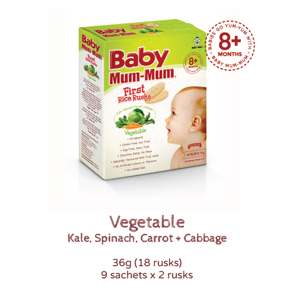 Baby Mum Mum first Rice Rusks Vegetable product