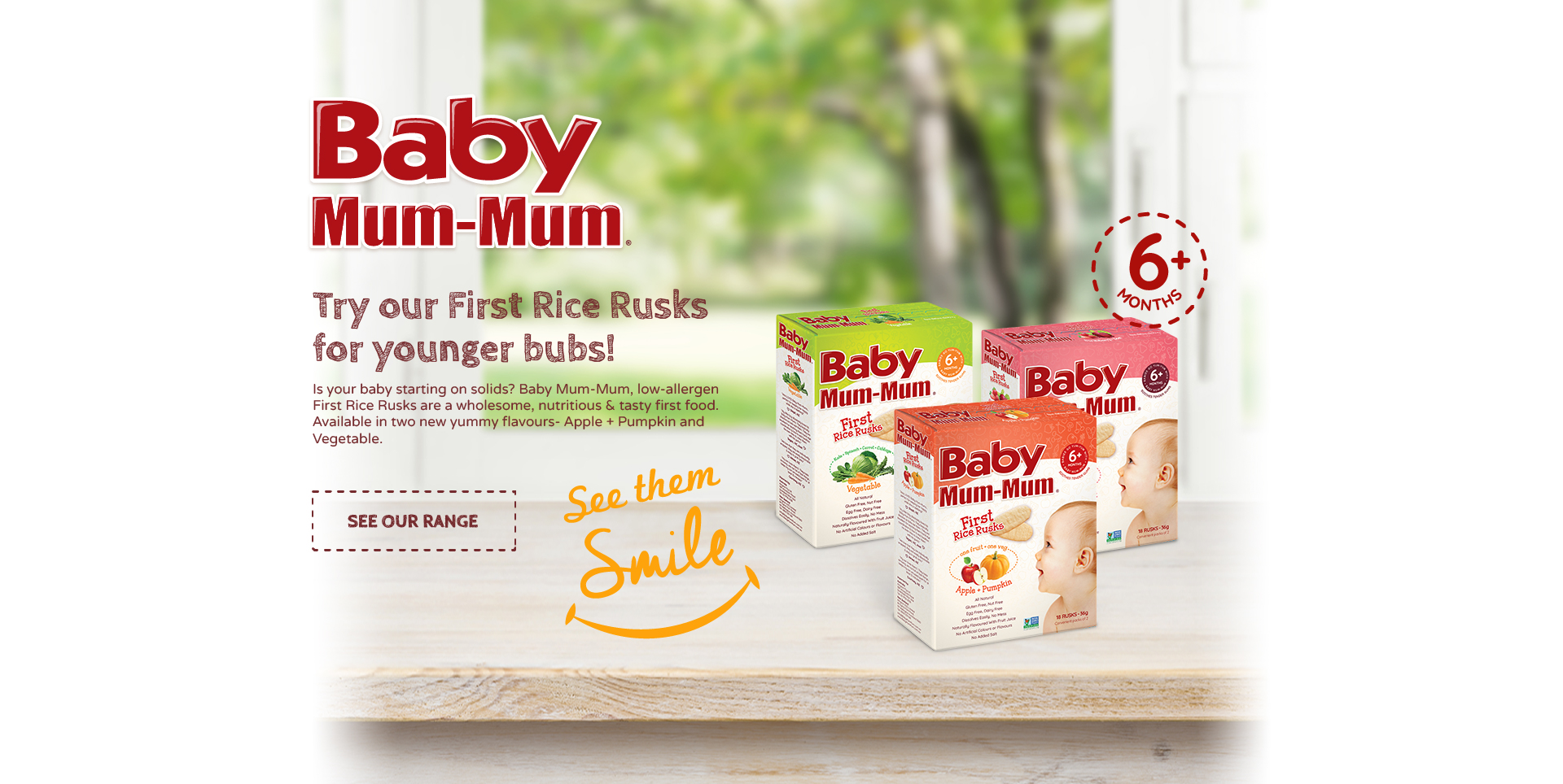 baby Mum Mum First Rice Rusks Vegetable, First Rice Rusks Apple + Pumpkin
